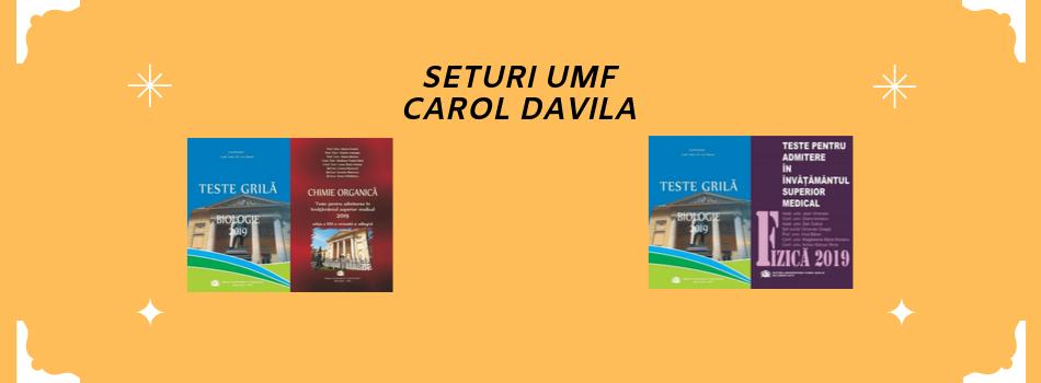Set admitere UMF Carol Davila-Chimie+Biologie(ed. 2019)