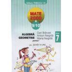 Algebra, geometrie - clasa a VII-a, partea I (anul scolar 2009-2010)