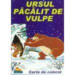 Ursul pacalit de vulpe - Carte de citit si colorat