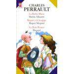 LA BARBE-BLEUE / BARBĂ-ALBASTRĂ; RIQUET A LA HOUPPE / RIQUET MOTATUL; LE PETIT POUCET / DEGETEL