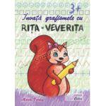 Învaţă grafismele cu Riţa-Veveriţa, 3+ ani