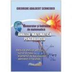 Memorator si indrumar de matematica analiza matematica pentru liceu