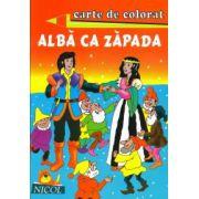 Alba ca zapada - Carte de citit si colorat