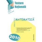 Testare nationala 2010 -matematica cl. a VIII a