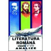 Literatura romana clasele V-VIII. Analize