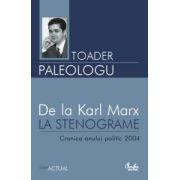 De la Karl Marx la stenograme