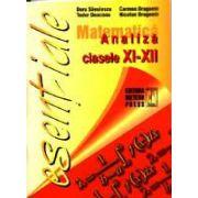 Matematica - analiza clasele IX-XII