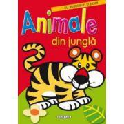 Animale din jungla - cu abtibilduri si poze