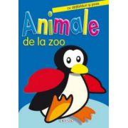 Animale de la Zoo - cu abtibilduri si poze
