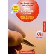 Limba si literatura romana - modele de subiecte pentru teza unica, clasa a VII-a, semestrul II (2008-2009)