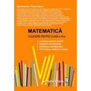 Matematica. Culegere pentru clasa a VII-a