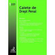 Caiete de Drept Penal, Nr. 1/2009