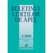 Buletinul Curtilor de Apel, Nr. 4/2009