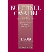 Buletinul Casatiei, Nr. 1/2009