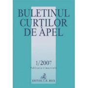 Buletinul Curtilor de Apel Nr. 1/2007