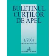 Buletinul Curtilor de Apel, Nr. 1/2008