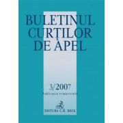 Buletinul Curtilor de Apel, Nr. 3/2007