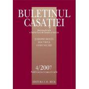 Buletinul Casatiei, Nr. 4/2007
