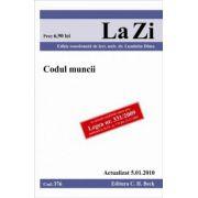 Codul muncii (actualizat la 05. 01. 2010). Cod 376