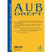 Analele Universitatii Bucuresti, Partea III/2005
