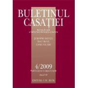 Buletinul Casatiei, Nr.4/2009