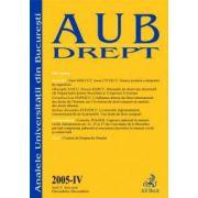 Analele Universitatii Bucuresti, Partea IV/2005