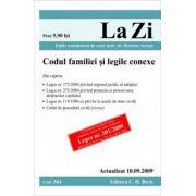 Codul familiei si legile conexe (actualizat la 10. 09. 2009). Cod 364
