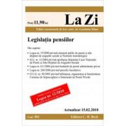 Legislatia pensiilor (actualizat la 15. 02. 2010). Cod 381