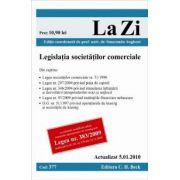 Legislatia societatilor comerciale (actualizat la 5. 01. 2010). Cod 377