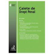 Caiete de Drept Penal, Nr. 4/2007