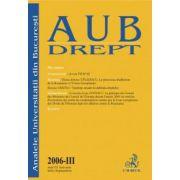 Analele Universitatii din Bucuresti, partea III/2006