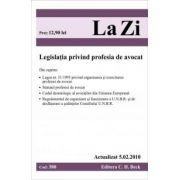 Legea privind profesia de avocat (actualizat la 05. 02. 2010). Cod 380