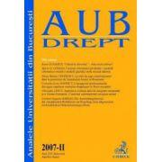 Analele Universitii din Bucuresti, 2007 - II (aprilie-iunie)