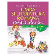 Limba si literatura romana, clasa a II-a. Caietul elevului. Partea I-a