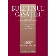 Buletinul Casatiei nr. 1/2007