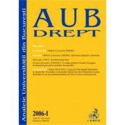 Analele Universitatii din Bucuresti, Partea I/2006