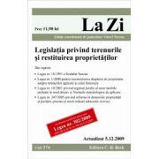 Legislatia privind terenurile si restituirea proprietatilor. Cod 374