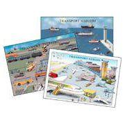 Transportul maritim, terestru, aerian (3 planse)
