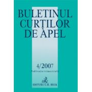 Buletinul Curtilor de Apel, Nr. 4/2007