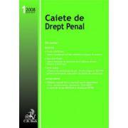 Caiete de Drept Penal, Nr. 1/2008