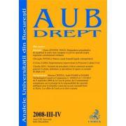 Analele Universitatii din Bucuresti, Nr. III-IV/2008