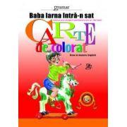 Carte de colorat 1 - Baba Iarna intra-n sat