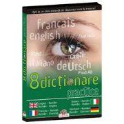 CD - 8 dicţionare practice (engleza, franceza, italiana, germana)