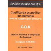 C. O. R. - Clasificarea ocupatiilor din Romania