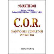 Clasificarea ocupatiilor din Romania, modificari si completari pentru 2011 - editia I - 9 martie 2011
