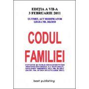 Codul familiei - editia VII - actualizata la 3 februarie 2011
