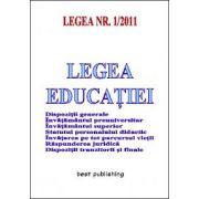 Legea educatiei - editia a III-a - actualizata la 17 ianuarie 2011