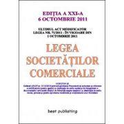 Legea societatilor comerciale - editia a XXI-a - 6 octombrie 2011