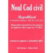 Noul cod civil - Republicat