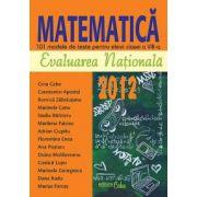 MATEMATICĂ - EVALUARE NAŢIONALĂ 2012